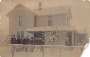 D3/ Mount Blanchard Ohio Postcard Real Photo RPPC 1909 Family Home