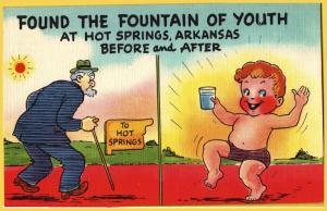 Comic-Found the Fountain of Youth, Hot Springs Arkansas -