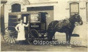 David Rock, Puro Milk Bread Baker Real Photo Horse Drawn Advertising Postcard...