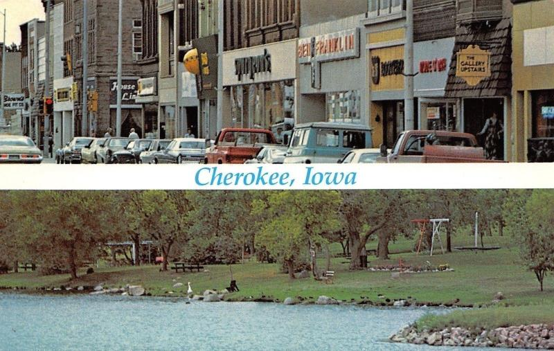 Cherokee IA~Main St Gallery Upstairs~Spurgeon's~Brown's Shoe Fit 1970s Econoline