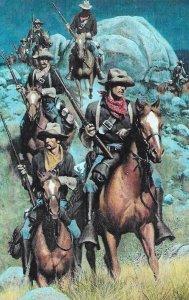H-051  Western Cowboy Posse Real Color Picture Postcard