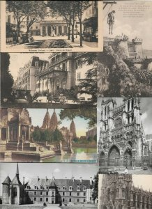 France - Valence Amiens Beauvais Rouen And More Postcard Lot of 30 01.03
