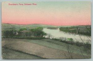Delaware~Boardman's Ferry On River~c1910 Postcard