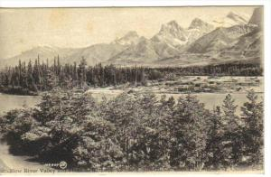 Bow River Valley & 3 Sisters , near CANMORE , Alberta , Canada , 00-10s