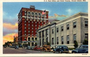 Nebraska Grand Island Post Office and Hotel Yancey Curteich