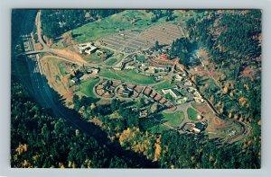 Portland OR, Aerial View Of The Portland Zoo, Chrome Oregon Postcard