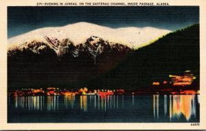Alaska Juneau On The Gastenau Channel At Night