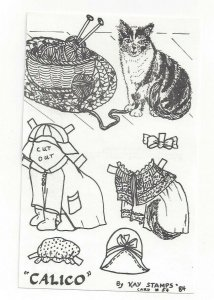 CALICO By Kay Stamps, Cut Out Cat Card #54, 1984