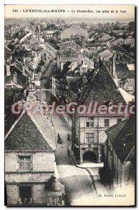 Postcard Old Luxueil les Bains La Grande Rue shooting Tower