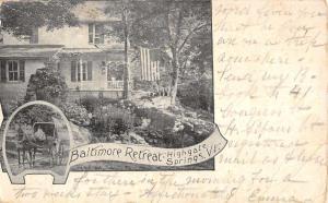 Highgate Springs Vermont Baltimore Retreat Multiview Antique Postcard K97867