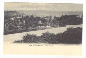 View in Highland Park, Pittsburg, Pennsylvania, Pre-1907
