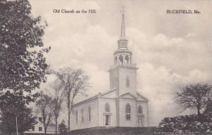 Maine Buckfield Old Church On The Hill Albertype
