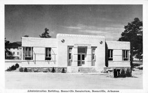 Booneville Arkansas Sanatorium Admin Building Antique Postcard K90799