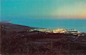 Pismo Beach California Night Scene Looking South Vintage Postcard JD933124