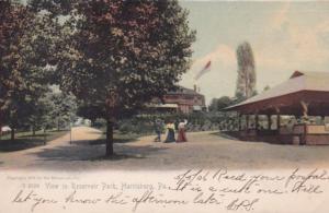Pennsylvania Harrisburg View In Reservoir Park 1906 Rotograph