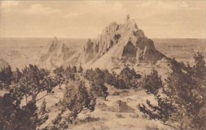 Vampire Peak At Cedar Pass The Badlands Nat Monument South Dakota Albertype