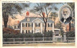 Longfellow's Home in Cambridge, Massachusetts