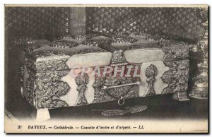 Old Postcard Bayeux Cathedral Cassette d & # 39Ovoire and D & # 39Argent