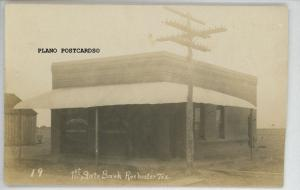 ROCHESTER, TEXAS 1ST STATE BANK RPPC REAL PHOTO POSTCARD