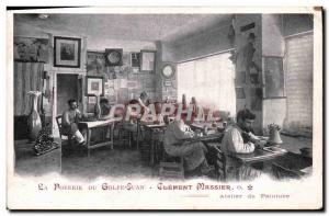 Old Postcard Pottery Gulf Juan Clement Massier Painting workshop