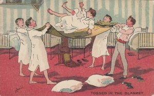 AS: Boys Tossed in the Blanket, PU-1905