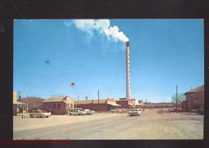 HURLEY NEW MEXICO SMELTER SMOKESTACK MAIN STREET SCENE CARS VINTAGE POSTCARD