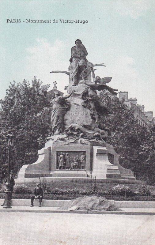 PARIS, France, 1900-1910s; Monument De Victor-Hugo