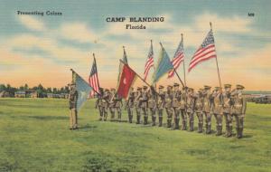 CAMP BLANDING, Florida, PU-1942; Presenting Colors