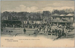 VINTAGE POSTCARD postal antigua - ARGENTINA - BUENOS AIRES : CANCHA de BOCHAS