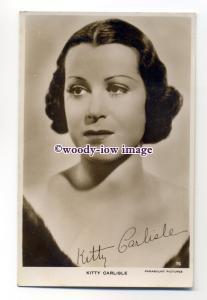 b4659 - Film Actress - Kitty Carlisle, Paramount No.76 - postcard