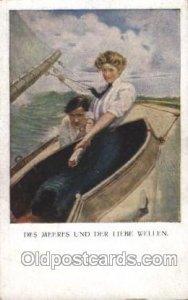 Artist Signed Clarence Underwood Series Nr. 837, M.Munk, Wien Unused light in...