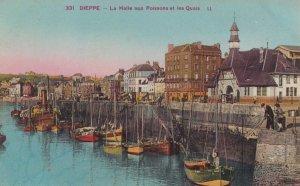 DIEPPE , France ,1900-1910s , Le Halle aux Poissons et les Quais
