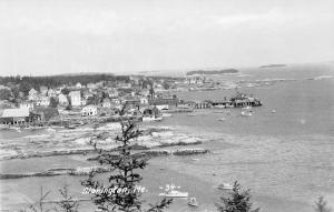 Stonington Maine~Birdseye Harbor~Pier~Houses~Business~Ships~1950s RPPC