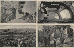 Jerusalem 4x Antique Character RPC Old Israel Postcard s