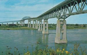 Seaway International Bridge, St. Lawrence River, CORNWALL, Ontario, Canada, 4...