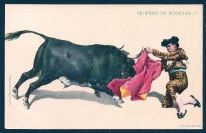 Quiebro de Rodillas Bullfighting & Cape Mexico unused c1905