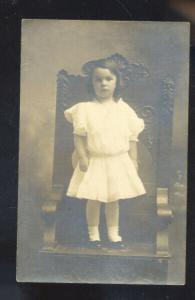 RPPC CUTE GIRL PRETTY PRATT KANSAS MILDRED BARNES VINTAGE REAL PHOTO POSTCARD