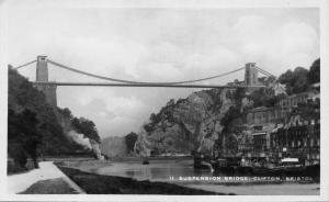 BRISTOL UK~SUSPENSION BRIDGE-CLIFTON  PHOTO POSTCARD