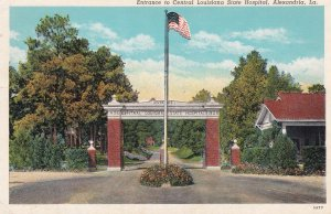 ALEXANDRIA, Louisiana, 1910-20s; Entrance to Central Louisiana State Hospital