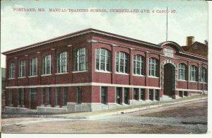 Portland, Me., Manual Training School Cumberland Ave. & Casco St.