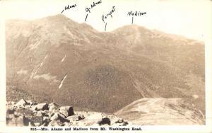 White Mountain New Hampshire Adams Washington Real Photo Antique Postcard K49881