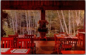 Big Sur, California Postcard RIVER INN Garden Dining Room Highway 1 Roadside