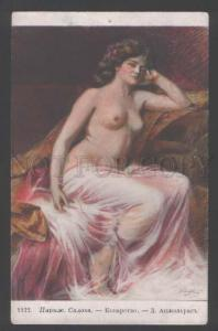 111909 NUDE Woman BELLE by ENJOLRAS vintage SALON tinted PC