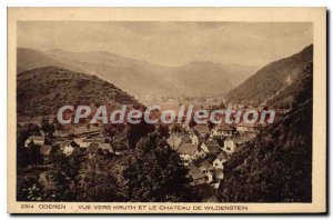 Old Postcard View Towards Oderen Kruth and the Castle of Wildenstein