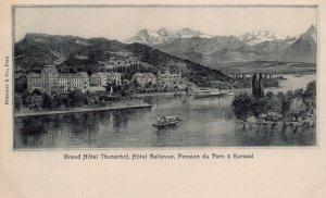 Grand Hotel Thunerhof Pension Du Parc a Kursaal Switzerland Postcard