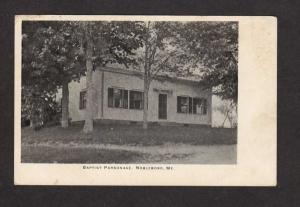 ME Baptist Parsonage Nobleboro Maine Private Postcard PMC Carte Postcard  UDB