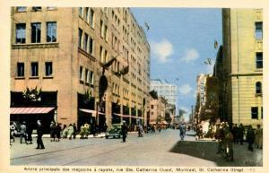 Canada - Quebec, Montreal. St. Catherine Street