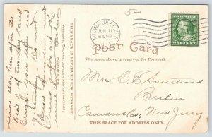 Waukesha Wisconsin~Main Street @ 5 Points~AC Estberg Drug Store~Owl Cigar~1911