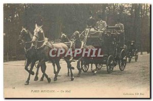 Old Postcard A Socialite Paris Mail Horses