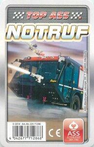 Ambulance/police/fireman cars 9x6cm trade card NOTRUF